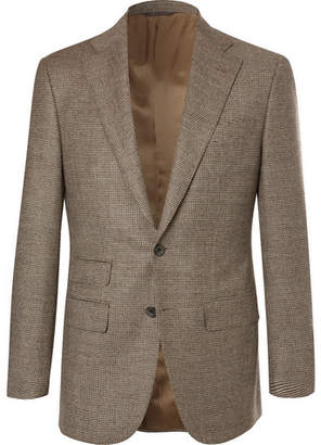 BEIGE Thom Sweeney - Grey Slim-fit Houndstooth Wool And Cashmere-blend Suit Jacket