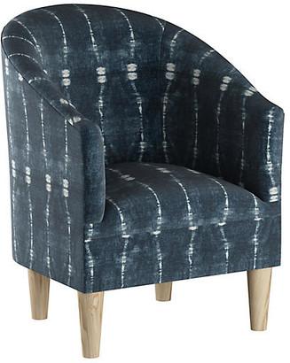 One Kings Lane Ashlee Barrel Accent Chair - Indigo