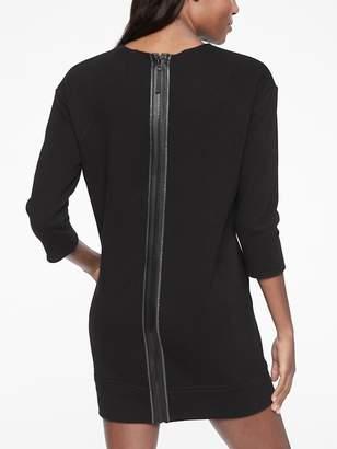Athleta Cozy Karma Back Zip Sweatshirt Dress