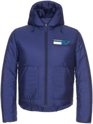 Prada Hooded Logo Puffer Jacket
