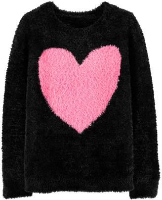 Carter's Girls 4-12 Heart Fuzzy Sweater