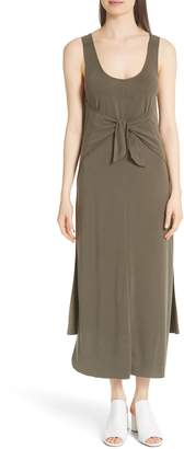 Vince Sleeveless Tie Front Maxi Dress