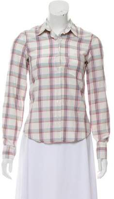 Steven Alan Silk Plaid Top