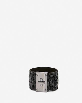 Express Crushed Bead Turnlock Cuff Bracelet