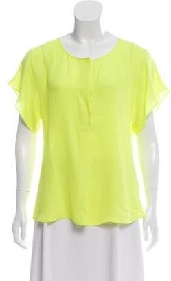 Marissa Webb Short Sleeve Silk Top