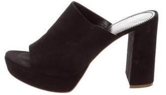Mansur Gavriel Suede Slide Sandals