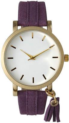 OLIVIA PRATT Olivia Pratt Tassle Charm Womens Purple Strap Watch-15984