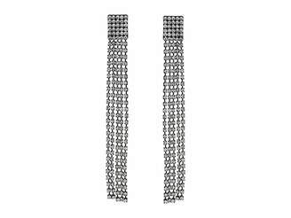 Steve Madden Square Fringe Chandelier Earrings