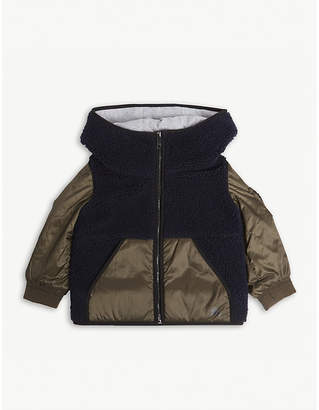Burberry Faux shearling padded hooded jacket 6-36 months
