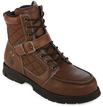 U.S. Polo Assn. Mens Braydon Lace Up Boots Buckle