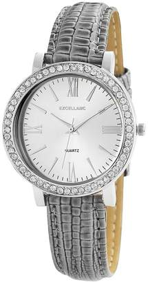 Excellanc 195622250013 - Women's Wristwatch, diversi materiali, color: grigio