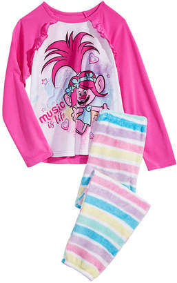LTB Trolls By Dreamworks Little & Big Girls 2-Pc. Cotton Pajama Set