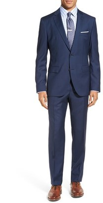Men's Boss Jewels/linus Trim Fit Check Wool Suit $795 thestylecure.com