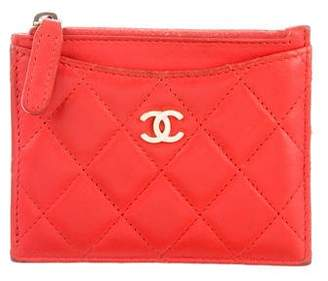 Chanel 2017 Quilted Leather Cardholder