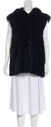 Fur Hooded Fur Vest