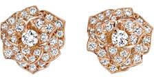 Piaget Diamond Rose Earrings in 18K Red Gold