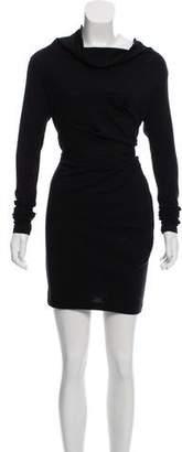 Brunello Cucinelli Cowl Neck Long Sleeve Dress