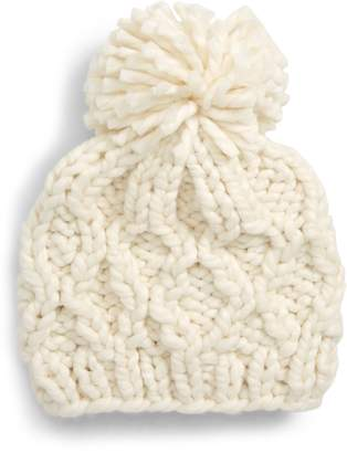 Sole Society Chunky Cable Knit Beanie