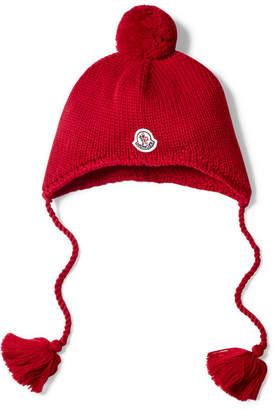 Moncler Size S - M Pompom-embellished Wool Hat