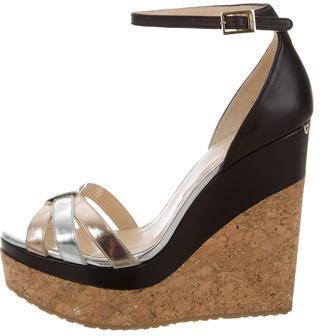 Jimmy ChooJimmy Choo Leather Wedge Sandals