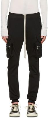 Rick Owens Black Drawstring Cargo Jog Trousers $920 thestylecure.com