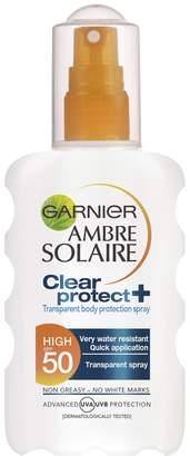 Ambre Solaire Garnier Clear Protect Sun Cream Spray SPF 50 200ml