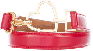 Moschino Heart Leather Belt $75 thestylecure.com