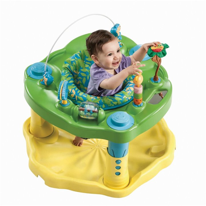 Evenflo Exersaucer Stationary Jumper - Zoo Friends