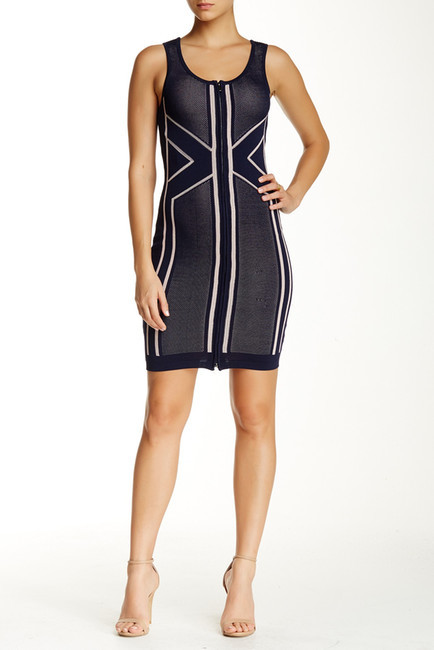 Wow Couture Zip Up Sleeveless Bodycon Dress