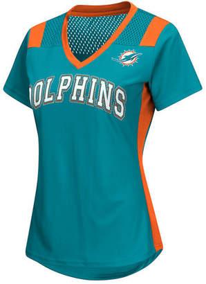 G-iii Sports Women's Miami Dolphins Wildcard Jersey T-Shirt