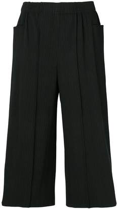 Issey Miyake pleated cropped trousers
