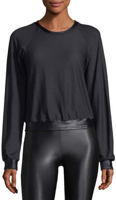 Koral Activewear Sofia Crewneck Long-Sleeve Pullover Top