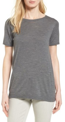 Women's Eileen Fisher Merino Wool Tee $178 thestylecure.com