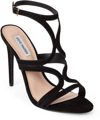 Steve Madden Black Sidney High Heel Dress Sandals