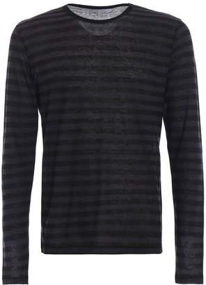 Majestic Filatures Long Sleeve Striped Cashmere Blend T-shirt