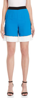Emilio Pucci Color Block High-Waisted Shorts