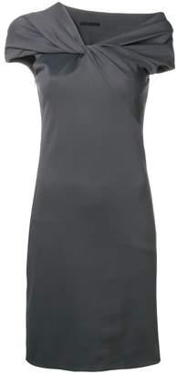 Helmut Lang twist neck pencil dress