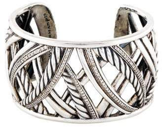 David Yurman Diamond Papyrus Wide Cuff silver Diamond Papyrus Wide Cuff