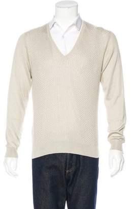 Etro Silk Knit V-Neck Sweater