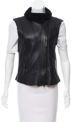 Lot 78 Lot78 Surplice Neck Zip-Up Vest
