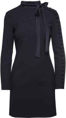 RED Valentino Button-embellished Techno-jersey Dress