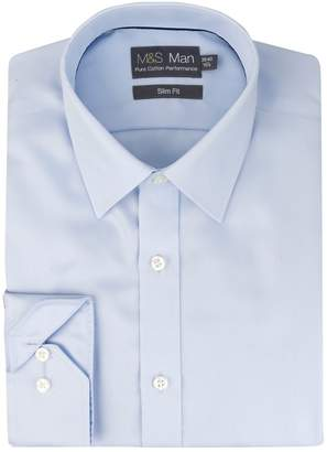 Marks and Spencer Performance Non-Iron Pure Cotton Slim Fit Shirt
