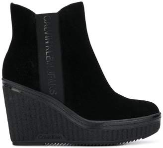 Calvin Klein Jeans wedge ankle boots