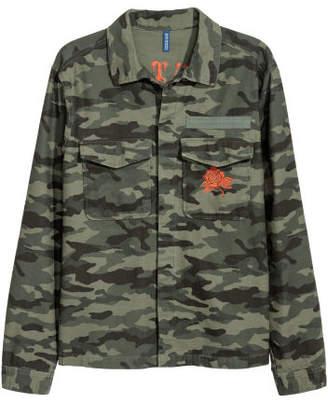 H&M Patterned Shirt Jacket - Green