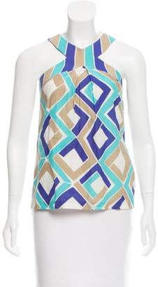 Trina Turk Geometric Print Sleeveless Top