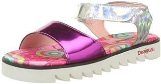 Desigual Girls' Golden Birds Heels Sandals,13.5 Child UK 32 EU