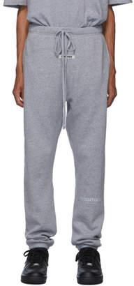 Essentials Grey Reflective Logo Lounge Pants
