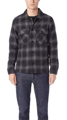 Naked & Famous Denim Workshirt Brushed Ombre Flannel