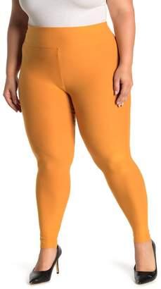 Planet Gold Brushed Knit Leggings (Plus Size)