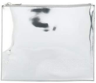 Calvin Klein top zip clutch bag